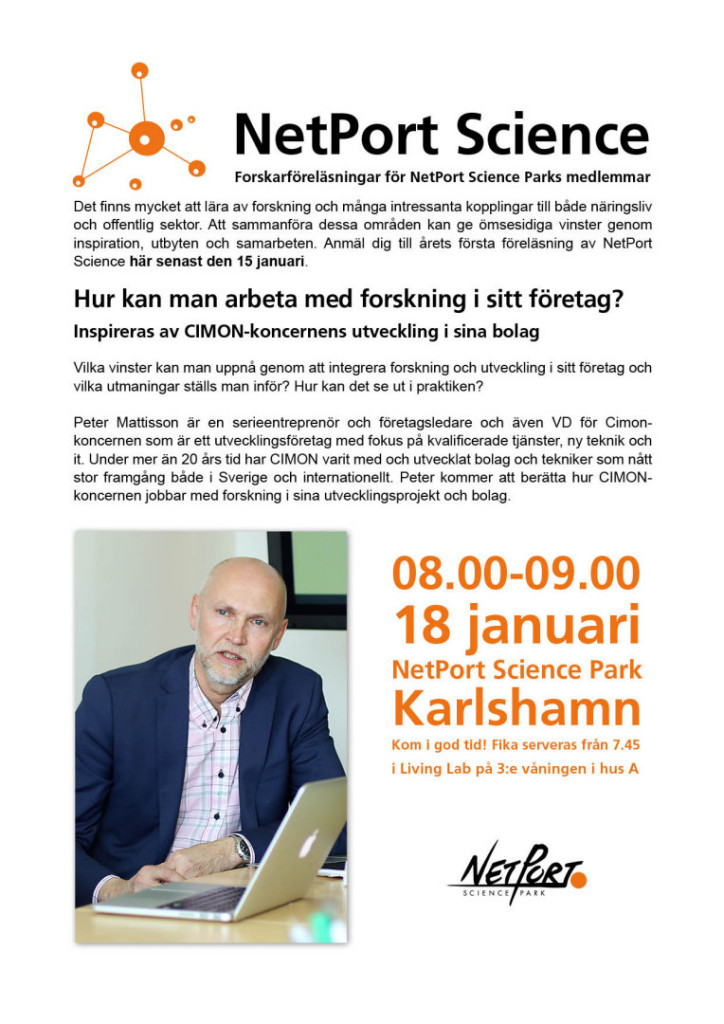 NetPort Science 18 januari